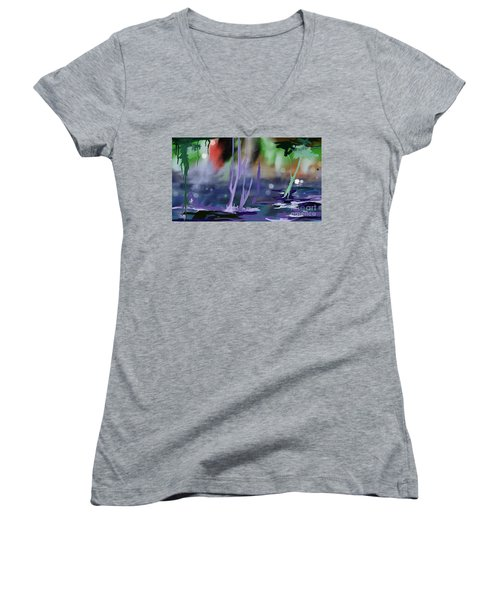 Fantasy With A Touch Of Reality Women's V-Neck (Athletic Fit)