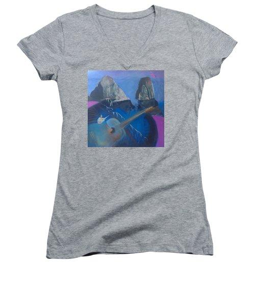 Faraglioni Serenade Women's V-Neck T-Shirt