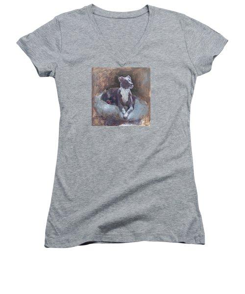 Faris 1 Women's V-Neck T-Shirt (Junior Cut) by Becky Kim