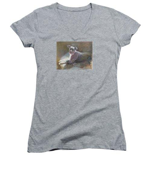 Faris 2 Women's V-Neck T-Shirt (Junior Cut) by Becky Kim