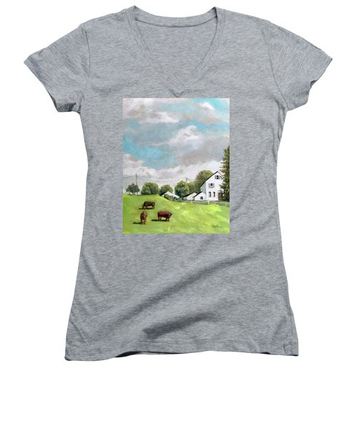 Farm Country Women's V-Neck (Athletic Fit)