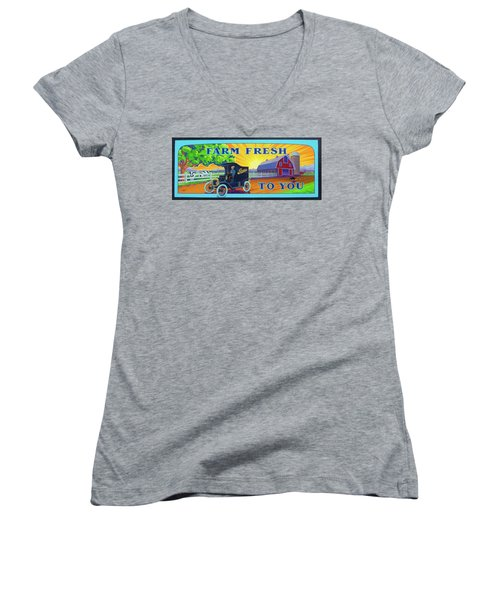 Farm Fresh To You  Women's V-Neck
