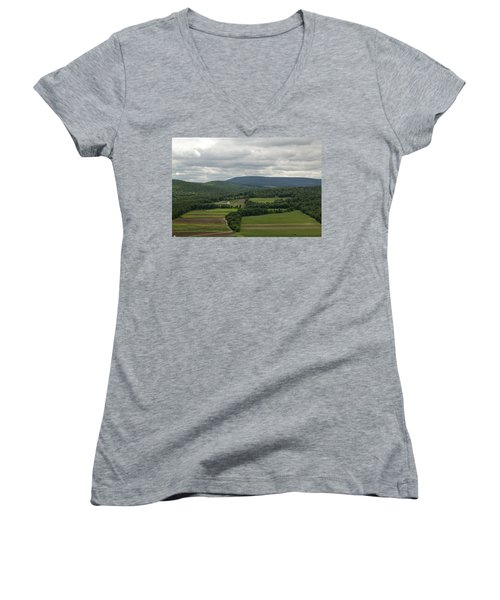 Farm Land Women's V-Neck (Athletic Fit)