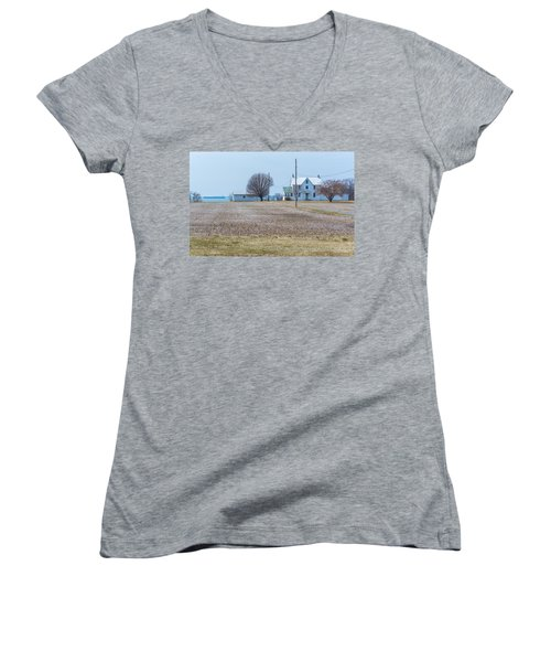 Farm On The Bay Women's V-Neck (Athletic Fit)