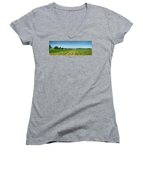 Farm Panorama Women's V-Neck T-Shirt