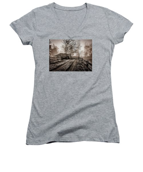 Farm Road Late Autumnl. Women's V-Neck (Athletic Fit)