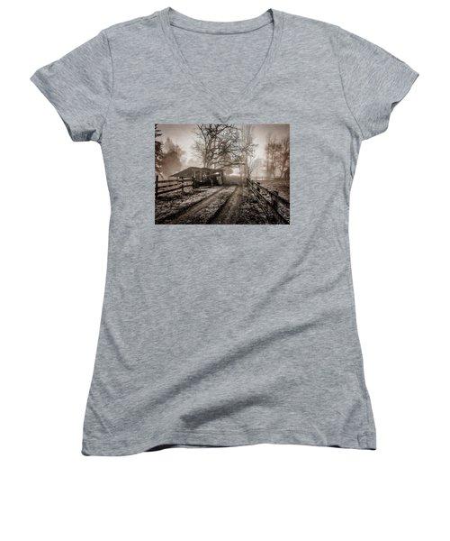 Farm Road Late Autumnl. Women's V-Neck T-Shirt