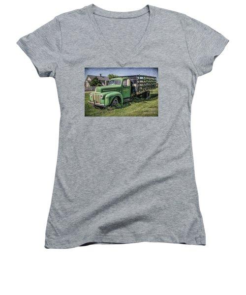 Farm Truck Women's V-Neck (Athletic Fit)