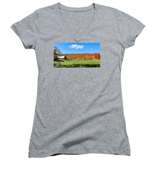 Farm View From Russellville Road Women's V-Neck