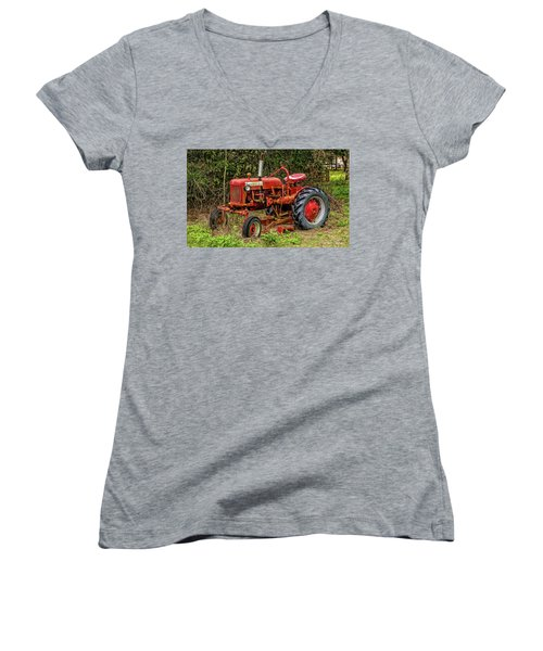 Women's V-Neck T-Shirt (Junior Cut) featuring the photograph Farmall Cub by Christopher Holmes