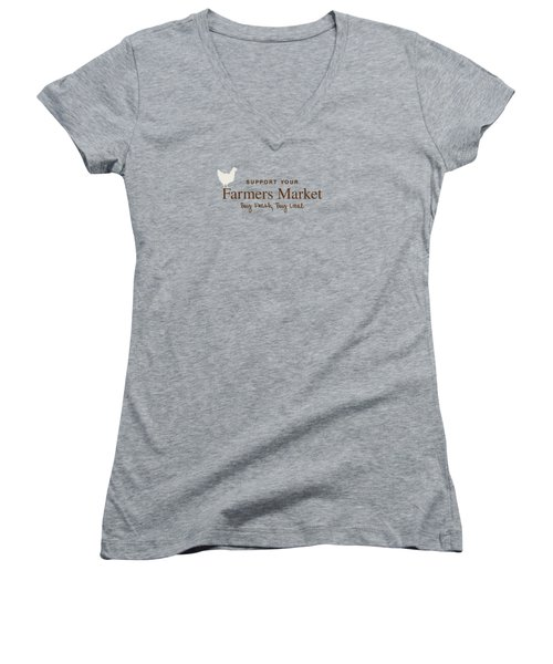Farmers Market Women's V-Neck T-Shirt