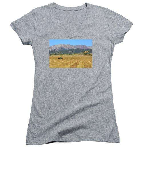 Farming In The Highlands Women's V-Neck T-Shirt