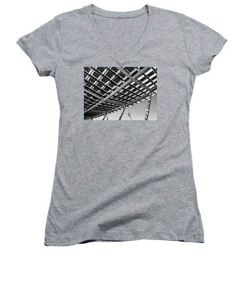 Farming The Sun - Architectural Abstract Women's V-Neck (Athletic Fit)
