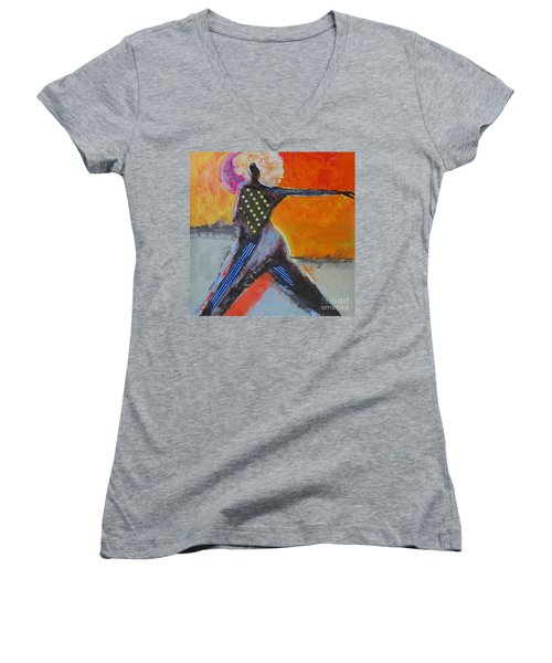 Fashionista Women's V-Neck T-Shirt (Junior Cut) by Ron Stephens