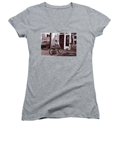 Fast Food 1963 Women's V-Neck (Athletic Fit)