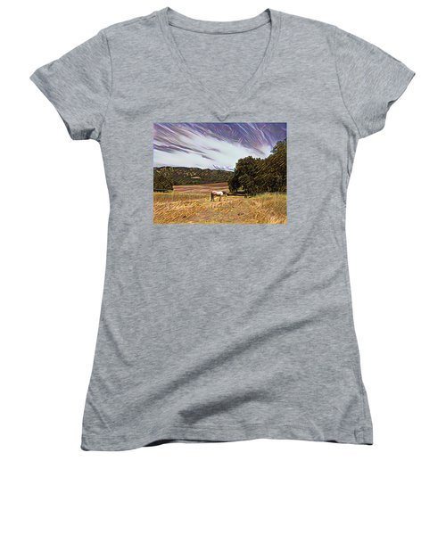 Fat Camp Grazing Women's V-Neck (Athletic Fit)