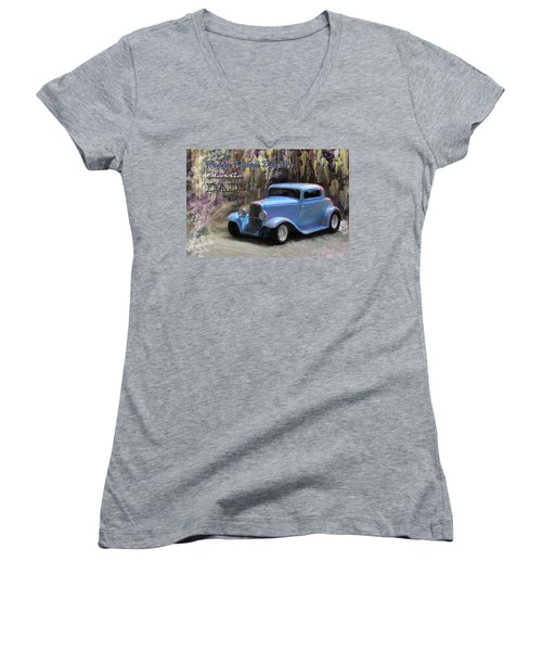 Fathers Day Classic Dad Women's V-Neck T-Shirt (Junior Cut) by Susan Kinney