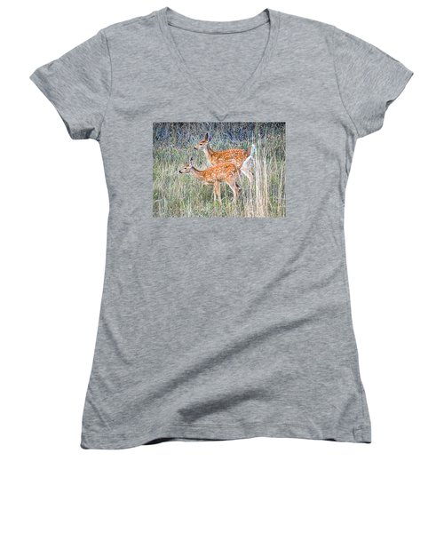 Fawns At Bigfork Women's V-Neck