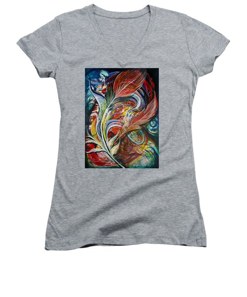 Feather Fury Women's V-Neck T-Shirt