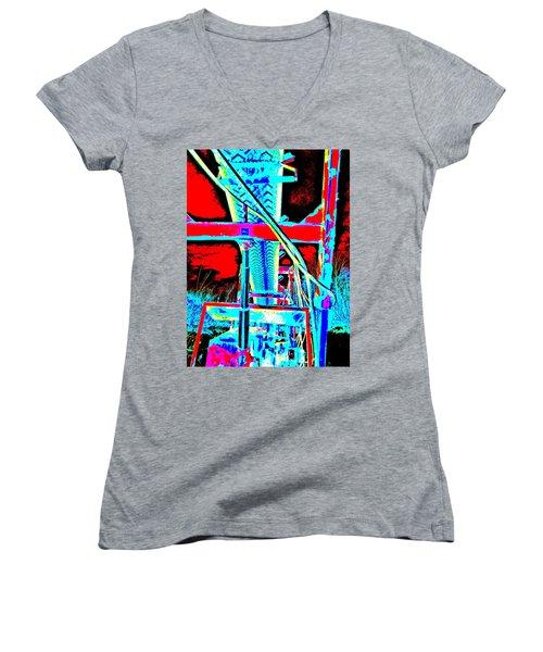 Feb 2016 36 Women's V-Neck T-Shirt (Junior Cut) by George Ramos