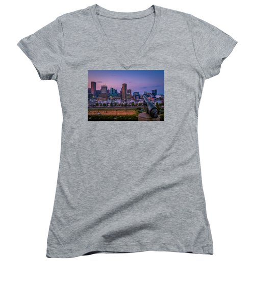 Federal Hill In Baltimore Maryland Women's V-Neck