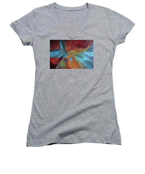 Feeling Free Women's V-Neck T-Shirt (Junior Cut) by Roberta Rotunda