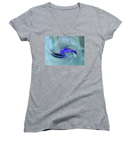 Feeling Tiffany Blue Women's V-Neck T-Shirt