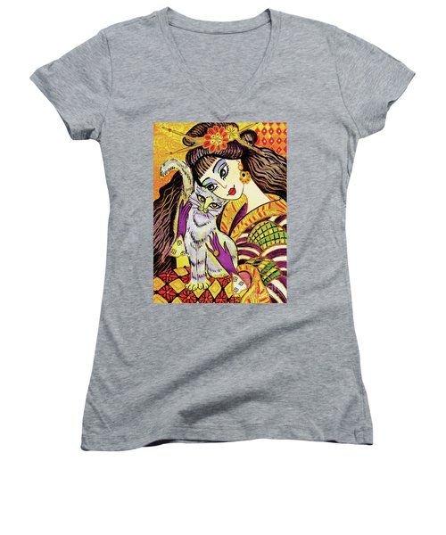 Feline Rhapsody Women's V-Neck