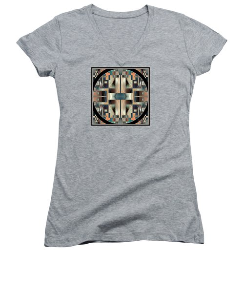 Female Abstraction Image Five Women's V-Neck T-Shirt (Junior Cut) by Jack Dillhunt