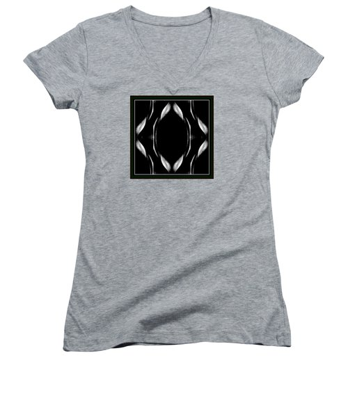 Female Abstraction Women's V-Neck T-Shirt (Junior Cut) by Jack Dillhunt