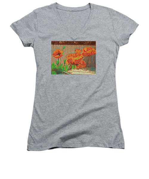 Fence Art Women's V-Neck