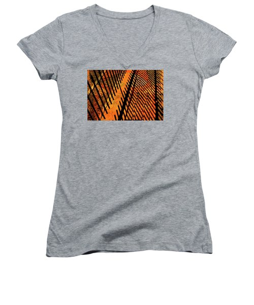 Fenced Framework Women's V-Neck T-Shirt