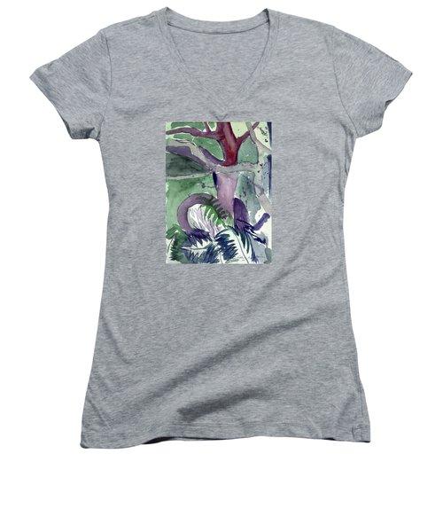 Fern Women's V-Neck T-Shirt (Junior Cut)