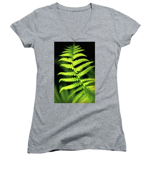 Fern Leaf Women's V-Neck