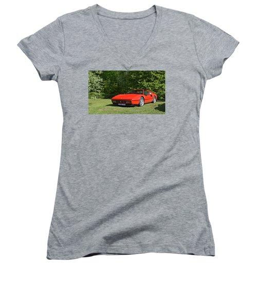 Ferrari 328 Women's V-Neck
