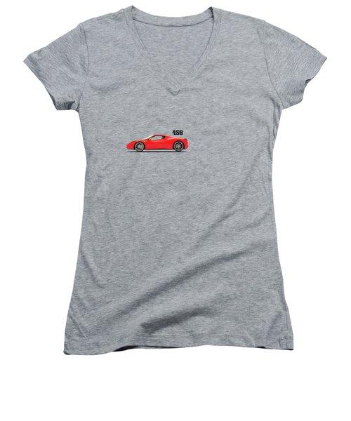 Ferrari 458 Italia Women's V-Neck T-Shirt