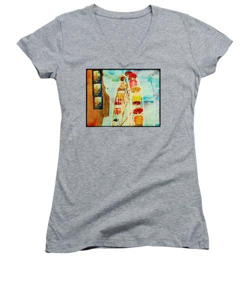 Ferris Wheel Fun Women's V-Neck T-Shirt