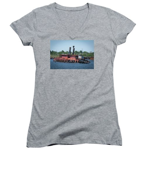 Ferry From Long Time Ago Women's V-Neck