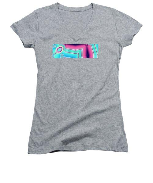 Women's V-Neck T-Shirt (Junior Cut) featuring the digital art Fertile by Ron Bissett