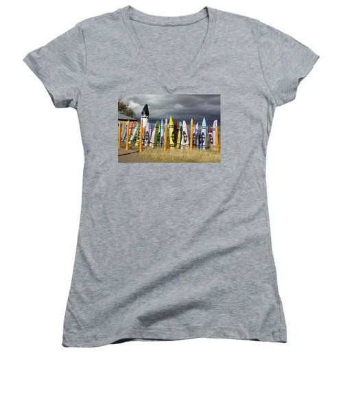 Festival Of The Crayons Women's V-Neck (Athletic Fit)