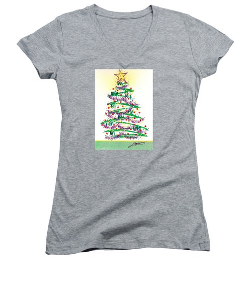 Festive Holiday Women's V-Neck
