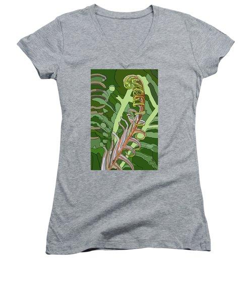 Fiddlehead Women's V-Neck T-Shirt