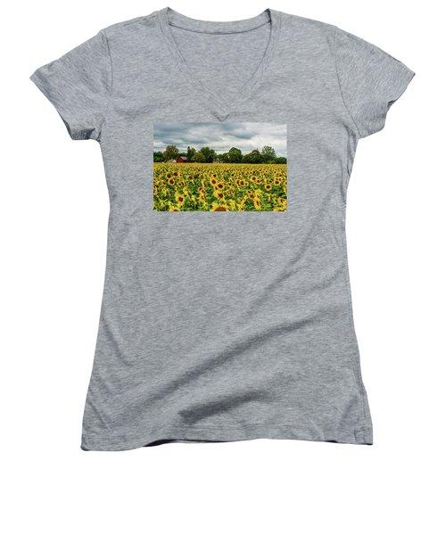 Field Of Sunshine Women's V-Neck