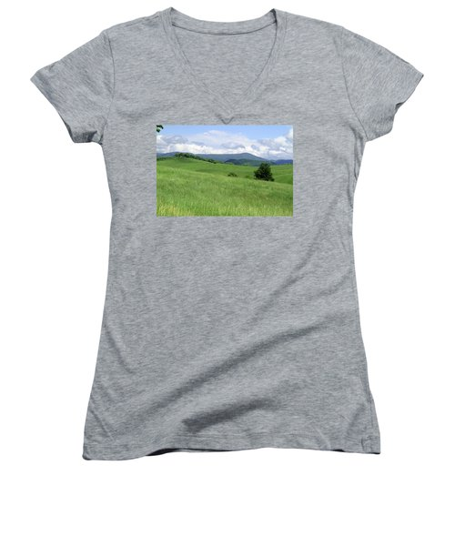 Fields And Hills  Women's V-Neck