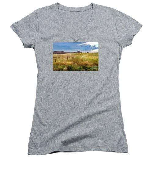Fields Of Gold Women's V-Neck T-Shirt