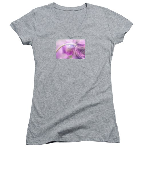Fifth Gospel Women's V-Neck T-Shirt (Junior Cut) by Jean OKeeffe Macro Abundance Art