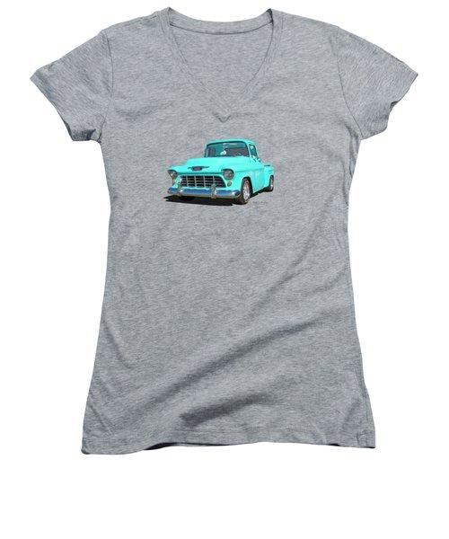 Fifty5 Stepside Pickup Women's V-Neck T-Shirt
