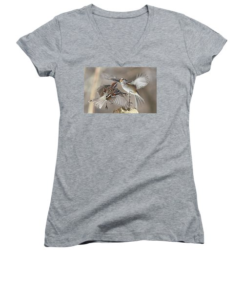 Fight Club Women's V-Neck T-Shirt (Junior Cut) by Mircea Costina Photography