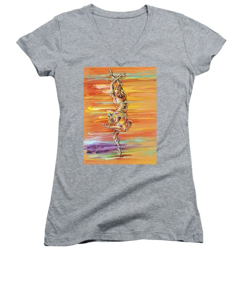 Jazz It Up Women's V-Neck (Athletic Fit)
