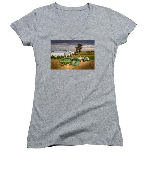 Filling Up And Emptying Out Women's V-Neck